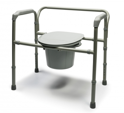 Gf Bariatric Steel Folding Commode
