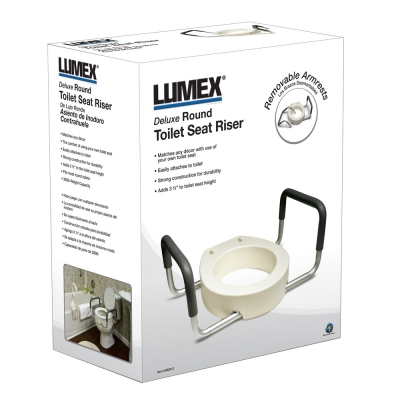 Super Gf Deluxe Toilet Seat Riser With Removable Armrests Alphanode Cool Chair Designs And Ideas Alphanodeonline