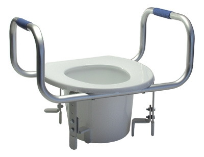 Gf Universal Raised Toilet Seat With Armrests
